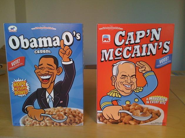 Caricature cereali casa bianca