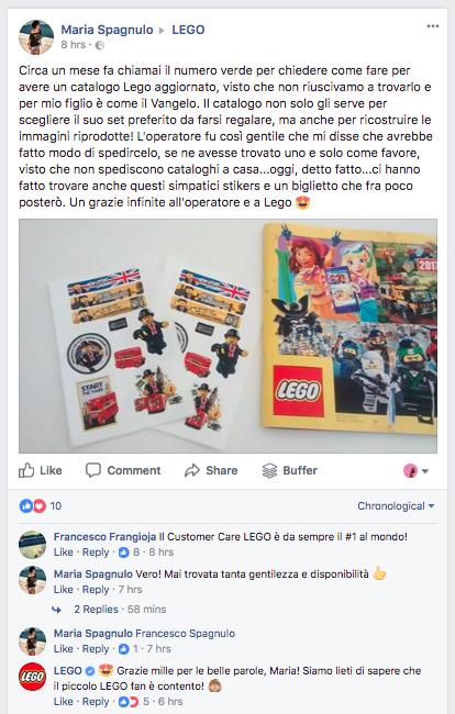 customer care Lego
