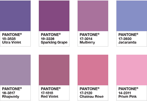 Abbinamento Ultra Violet 2018