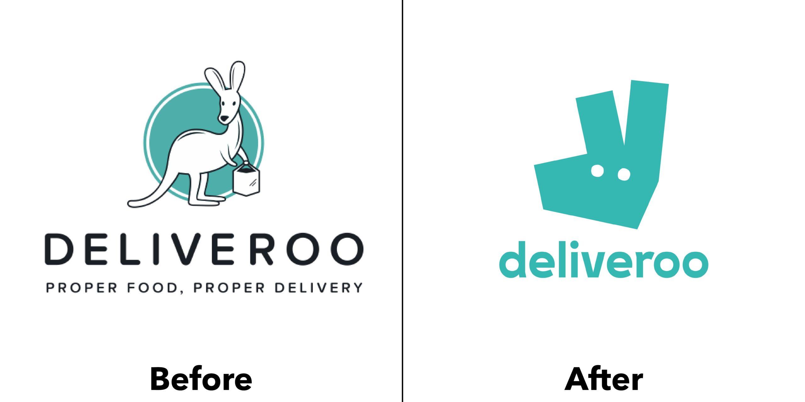 Evoluzione logo Deliveroo