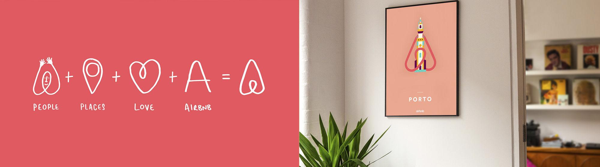 Evoluzione logo Airbnb