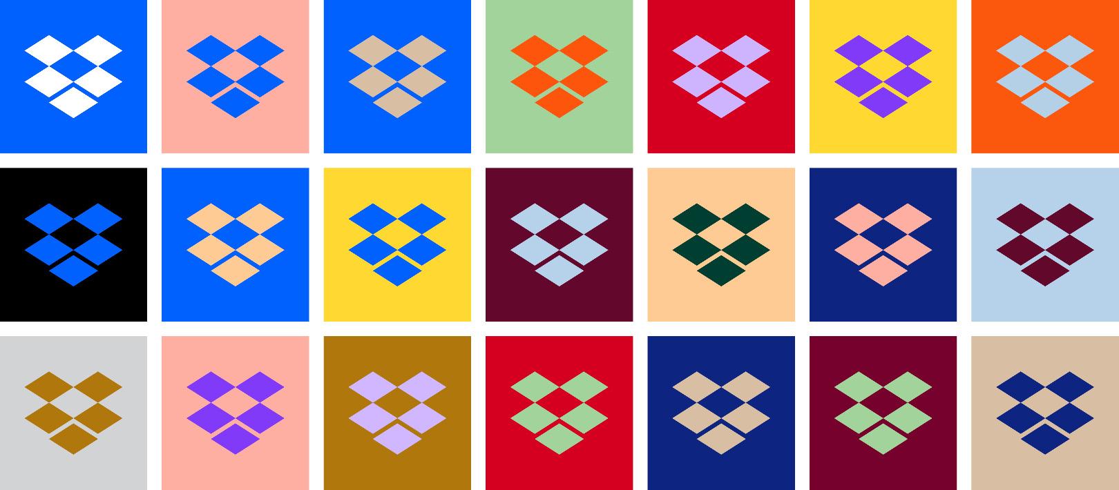 Rebranding colorato Dropbox