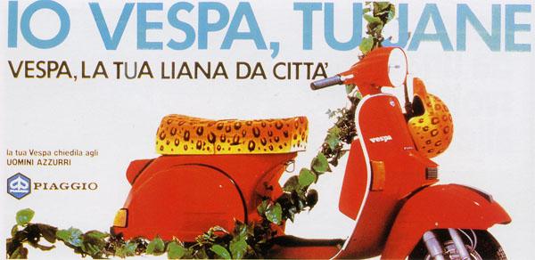 Pubblicità Vespa anni '80