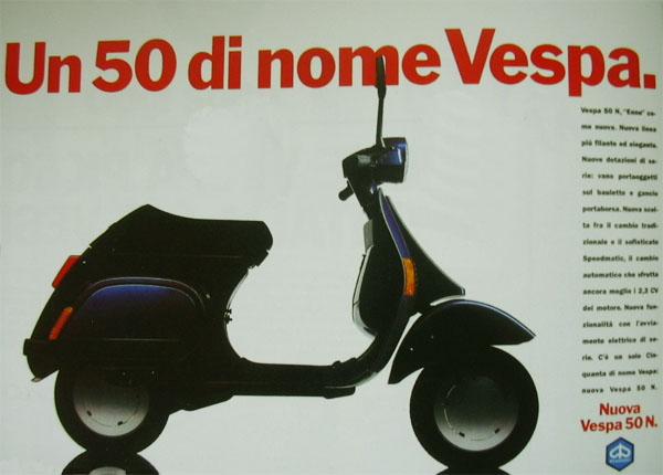 Pubblicità Vespa anni '90