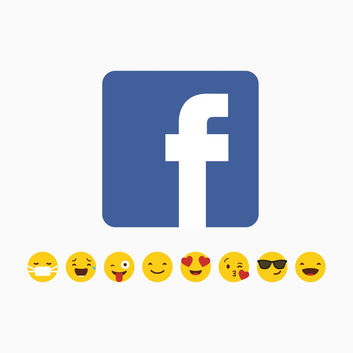 Facebook, logo ed emoticons