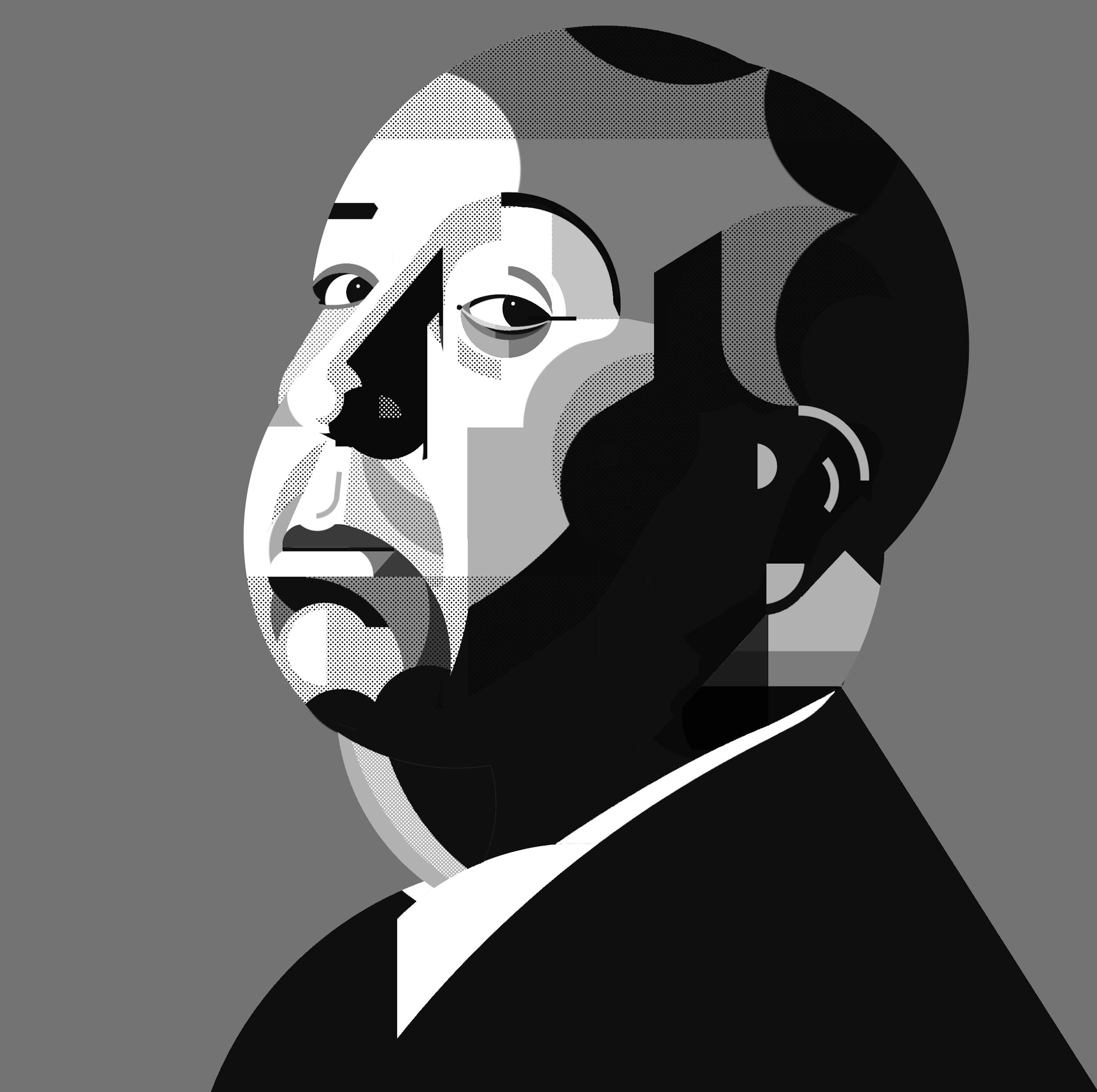 Hitchcock - Illustrazione di Alice Iuri