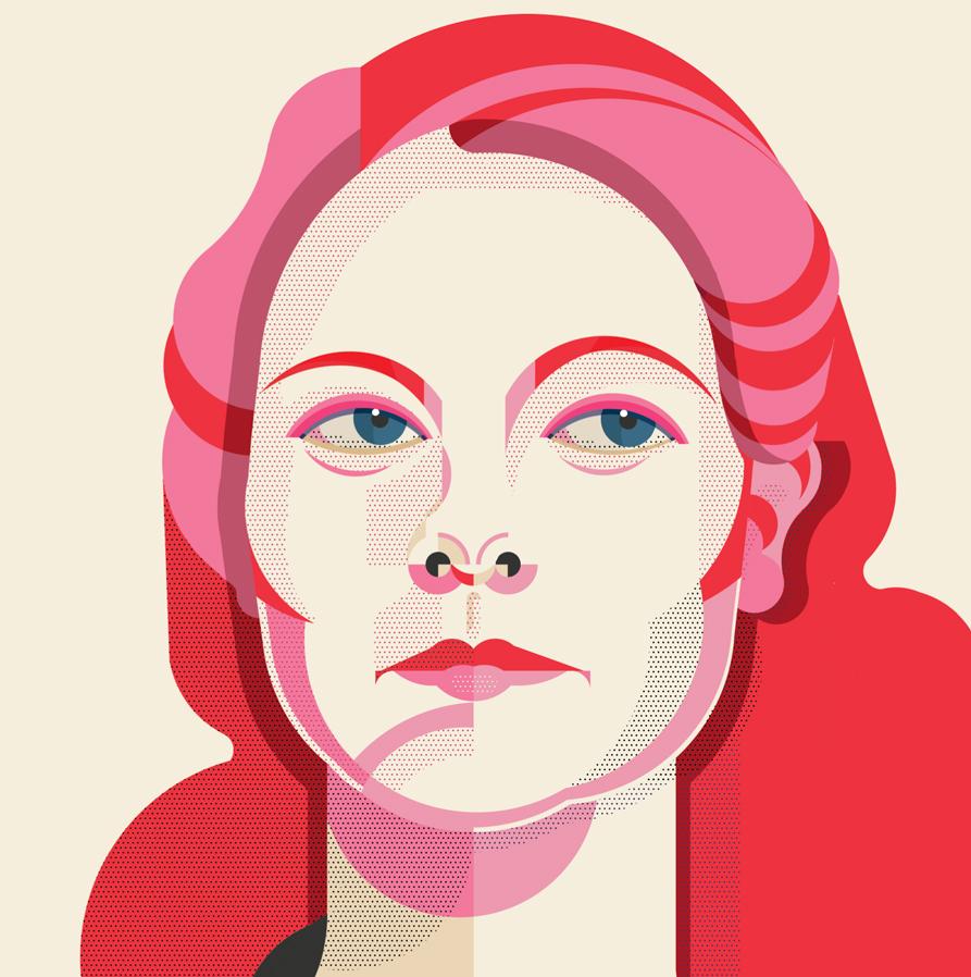 Theresa Russell - Illustrazione di Alice Iuri