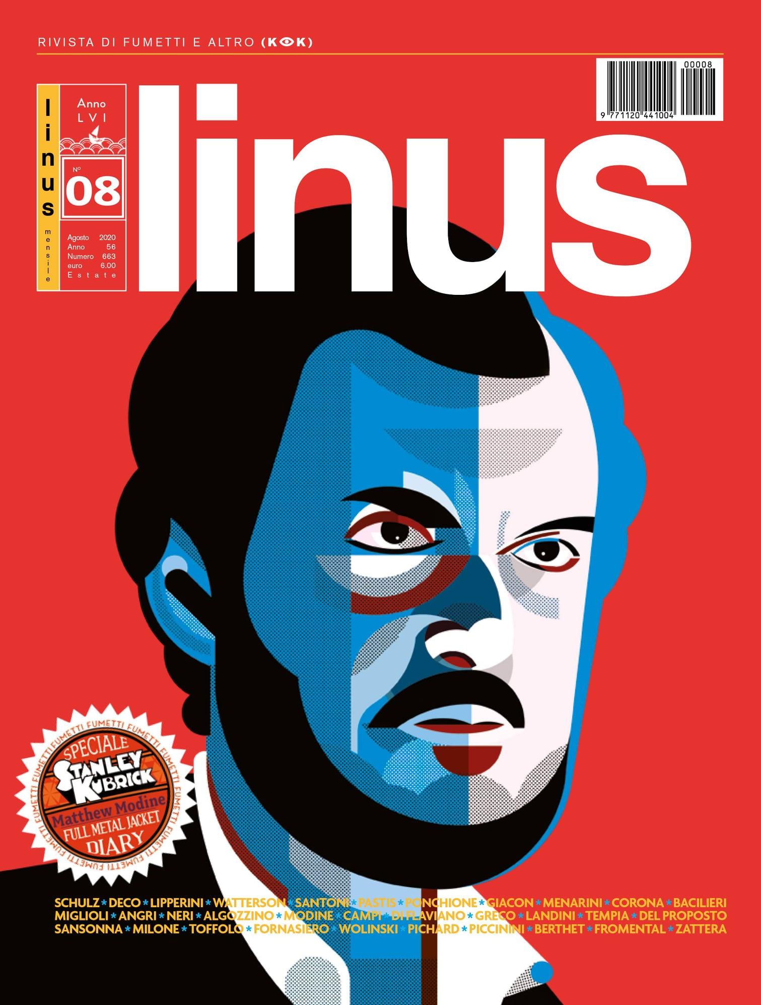 Stanley Kubrick - Illustrazione di Alice Iuri per Linus