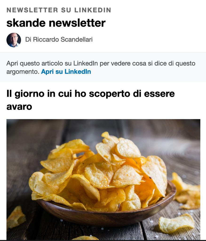 newsletter skande: riccardo scandellari